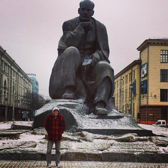 Minsk Yakub Kolas Monument